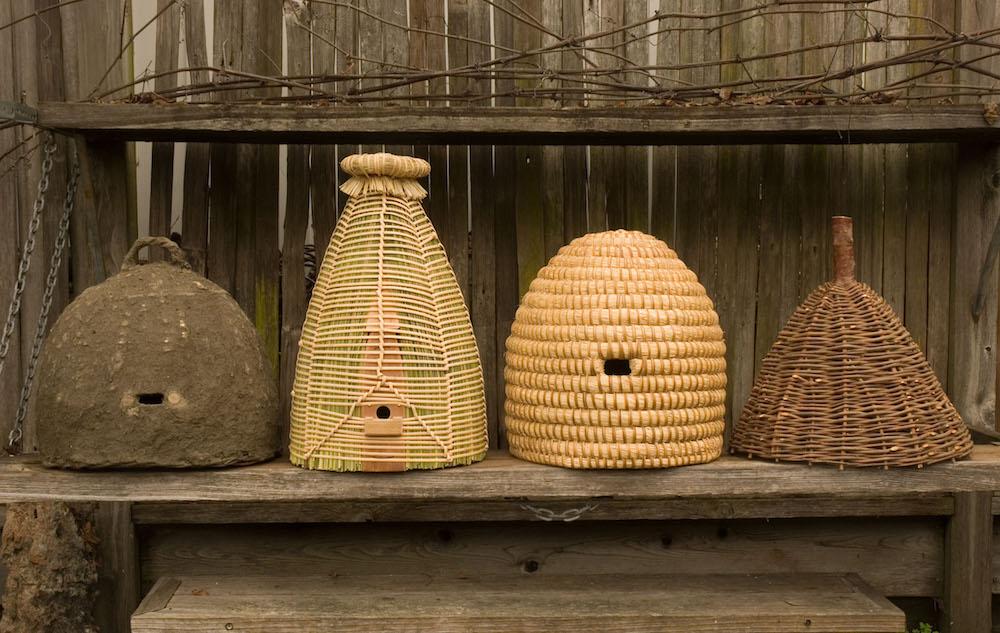 European beehives, woven